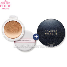 ETUDE HOUSE Any Cushion All Day Perfect Refill 14g with Sparkle Your Cushion Case 1ea,Beauty Box Korea