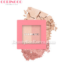 CORINGCO Pink Square Dual Highlighter 10g,Beauty Box Korea