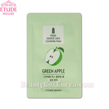 [mini] ETUDE HOUSE Fresh Squeeze Juice Cleansing Foam Green Apple 1ml*10ea