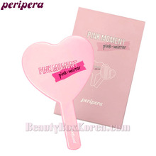 PERIPERA Heart Pink Hand Mirror 1ea  [Pink- Moment]