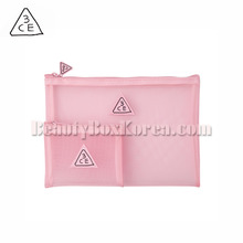 3CE Pink Rumour Mesh Pouch 2ea