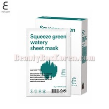 E NATURE Squeeze Green Watery Sheet Mask 25g*10ea,E NATURE