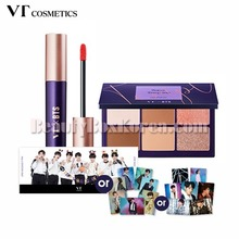 VT COSMETICS Super Tempting Eye Palette & Lip Rouge with BTS Photo Set [VTXBTS Edition],VT