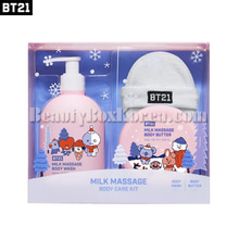 BT21 Milk Massage Body Care Kit 3items,BT21