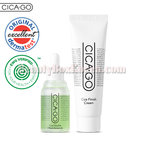CICA·GO Cica Double Effect Ampoule 30ml+Cica Finish Cream 50ml,CICAGO