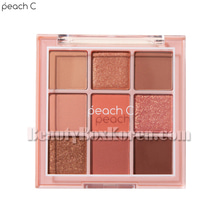 PEACH C Soft Mood Eyeshadow Palette #Soft Coral,PEACH C