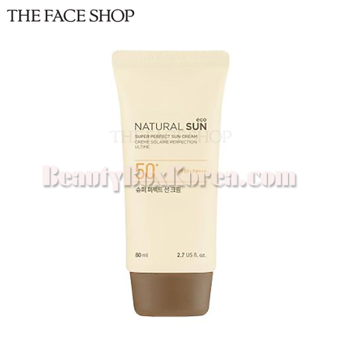 THE FACE SHOP Natural Sun Eco Super Perfect Sun Cream SPF50+ PA+++ 80ml,THE FACE SHOP