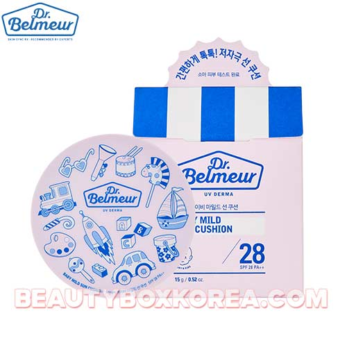 THE FACE SHOP Dr.Belmeur UV Derma Baby Mild Sun Cushion SPF28 PA++ 15g,THE FACE SHOP