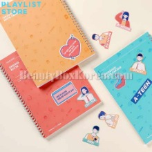 PLAYLIST A-Teen Spring Note Set 3items [A-Teen x MOTEMOTE],Beauty Box Korea