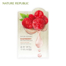 NATURE REPUBLIC Real Fresh Mask Sheet Raspberry 30ml, NATURE REPUBLIC