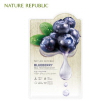 NATURE REPUBLIC Real Fresh Mask Sheet Blueberry 30ml, NATURE REPUBLIC