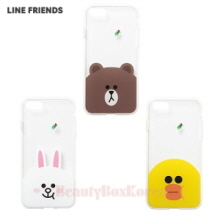 LINE FRIENDS Clear Jelly Phone Case 1ea,Beauty Box Korea