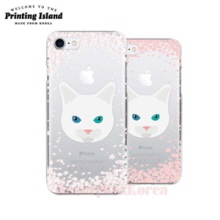 PRINTING ISLAND 8Kinds Cherry Blossom With Cat Phone Case,Beauty Box Korea