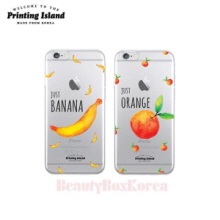 PRINTING ISLAND 4Items Fruit Clear Phone Case,Beauty Box Korea