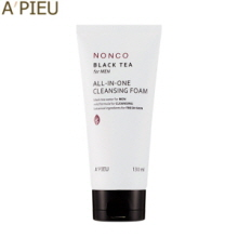 A'PIEU NonCo Black Tea for Men All-in-One Cleansing Foam 130ml, A'Pieu