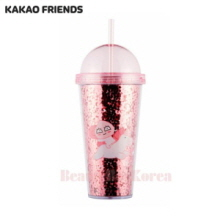 KAKAO FRIENDS Apeach Straw Tumbler 1ea (Hot pink)
