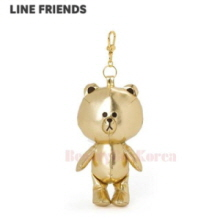 LINE FRIENDS Gold Brown Bag Charm Doll 1ea