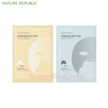 NATURE REPUBLIC Morning Routine Mask Sheet 17g*5ea,NATURE REPUBLIC