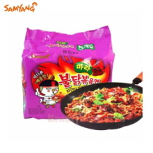SAMYANG Spicy Fire Mara Buldak Hot Noodles Korean Ramen 135g*4ea