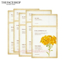 THE FACE SHOP Calendula Essential Oil Layering Face Mask 21.5g*5ea,Beauty Box Korea