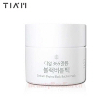 TIA'M Sebum Drying Black Bubble Pack 80ml