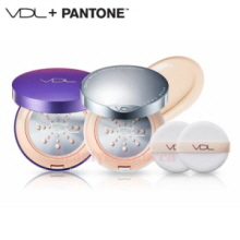 VDL Beauty Metal Cushion Foundation Long Wear Pantone Case Set 15g*2ea [Pantone 18 Edition]