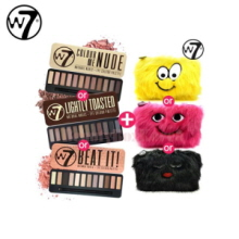 W7 Natural Nudes Eye Colour Palette & Furry Pouch Set 15.6g